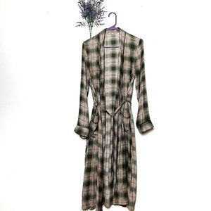 Urban Outfitters Out From Under Plaid Robe Duster